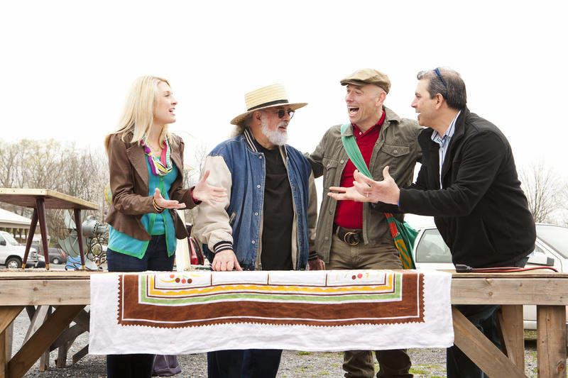 The Antique Pickers Miller Gaffney, John Bruno, Bob Richter and Kevin Bruneau.