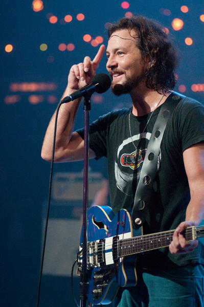 Classic alternative rockers Pearl Jam, fronted by lead singer Eddie Vedder (pictured), take the ACL stage with tunes from their latest album, Backspacer, as well as catalogue favorites.