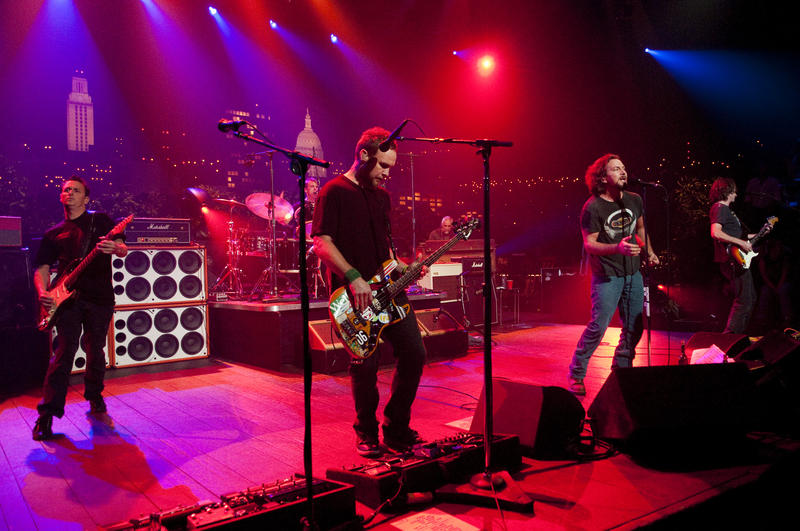 Classic alternative rockers Pearl Jam take the ACL stage with tunes from their latest album, Backspacer, as well as catalogue favorites.