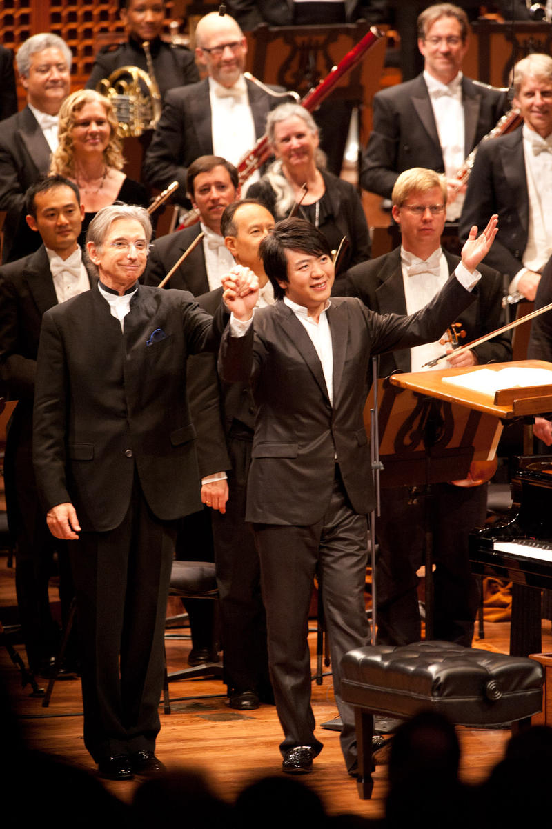 Music director Michael Tilson Thomas and pianist Lang Lang join the San Francisco Symphony's celebration of its centennial season.
