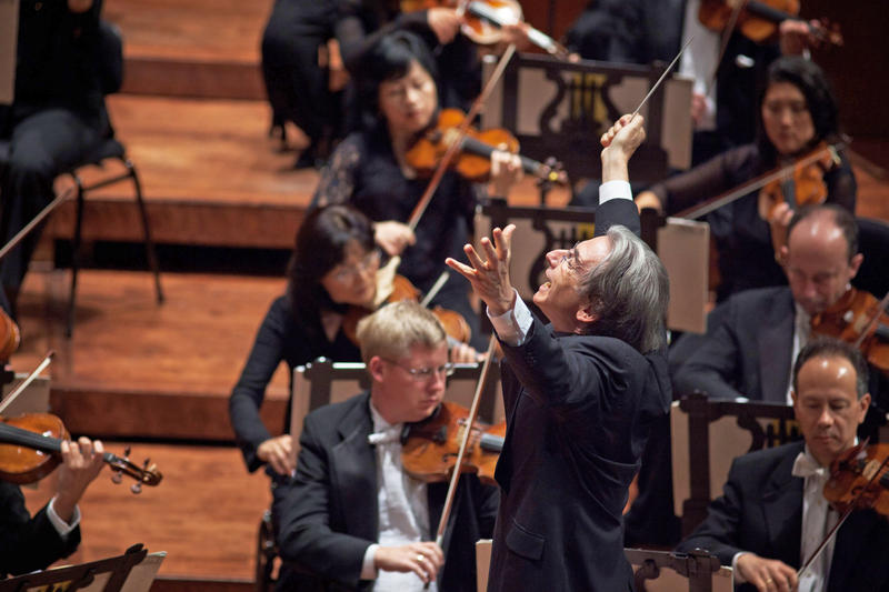 Music director Michael Tilson Thomas leads the San Francisco Symphony in its centennial season celebration.
