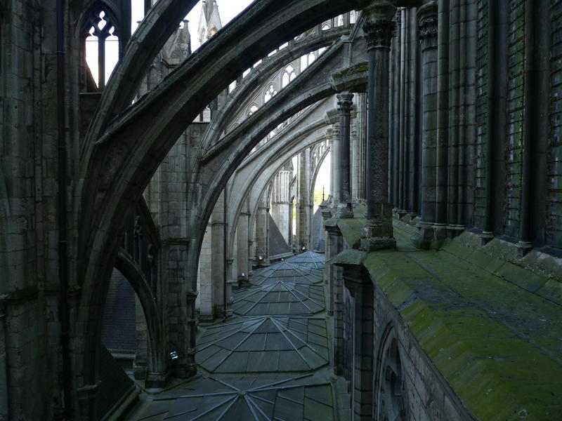 Pictured: Flying buttresses at Amiens Cathedral