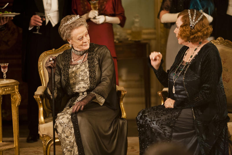 Shown (L-R): Maggie Smith as Lady Violet Crawley and Shirley MacLaine as Martha Levinson