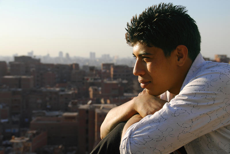 "Eighteen-year-old Nabil, one of the teenage boys featured INDEPENDENT LENS ""Garbage Dreams."