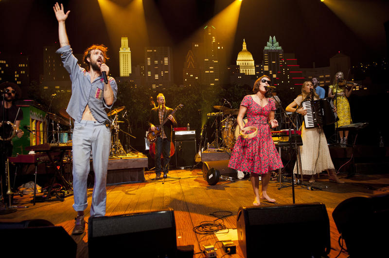 Edward Sharpe & the Magnetic Zeroes bring experimental alt.pop to the ACL stage with the LP Here.