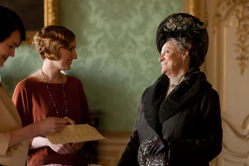 Shown (L-R): Phyliis Logan as Mrs. Hughes and Lesley Nicol as Mrs. Patmore