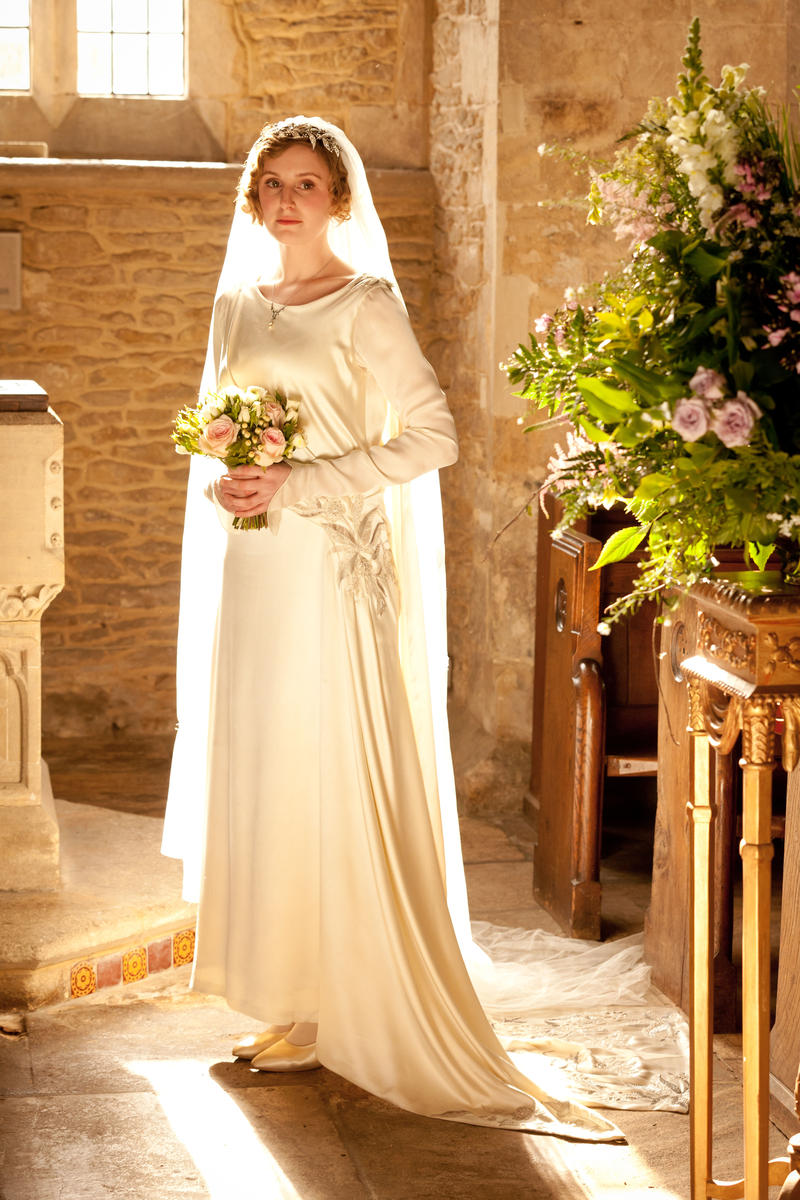 Shown: Laura Carmichael as Lady Edith