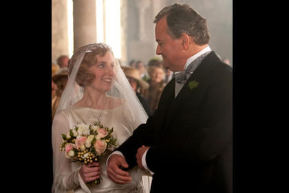 Shown (L-R): Siobhan Finneran as Miss O'Brien and Matt Milne as Alfred