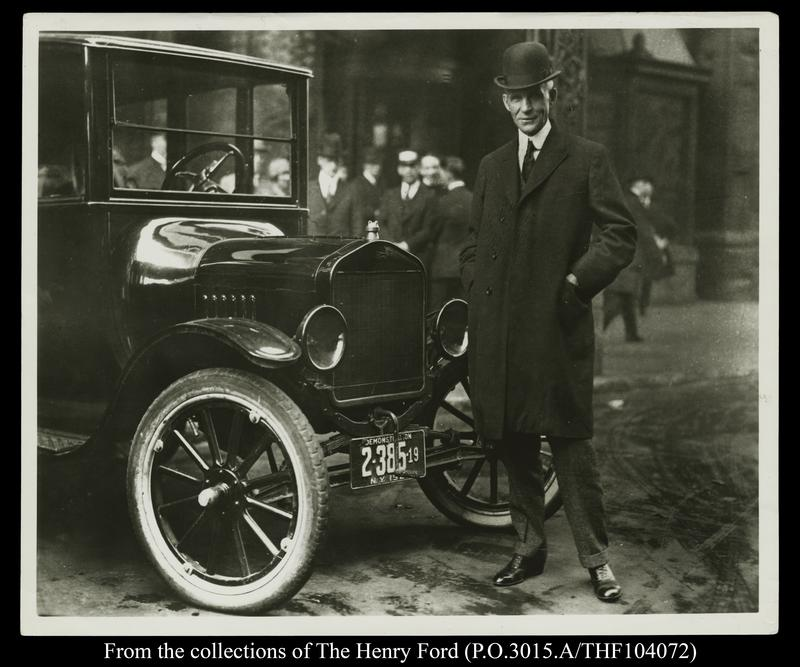 Henry Ford with Ford Model T, Buffalo, New York, 1921.