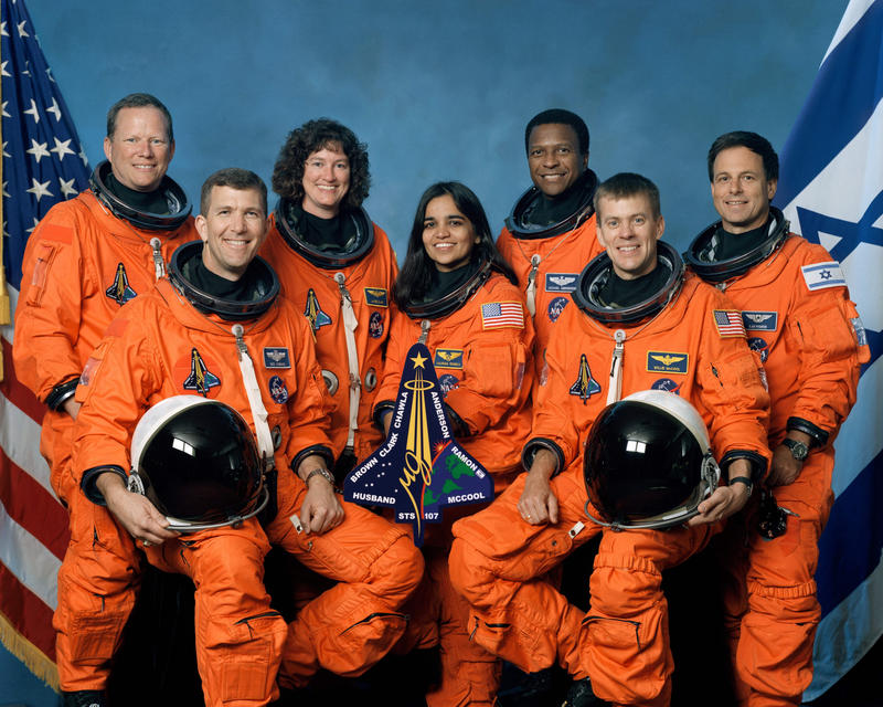 Official crew photo from Mission STS-107 on the space shuttle Columbia .