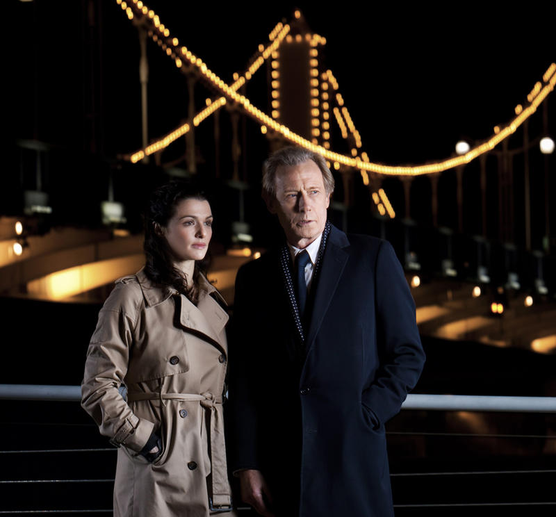 Pictured: Rachel Weisz as Nancy Pierpan and Bill Nighy as Johnny Worricker