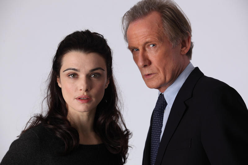 Pictured: Rachel Weisz as Nancy Pierpan and Bill Nighy as Johnny Worricker.
