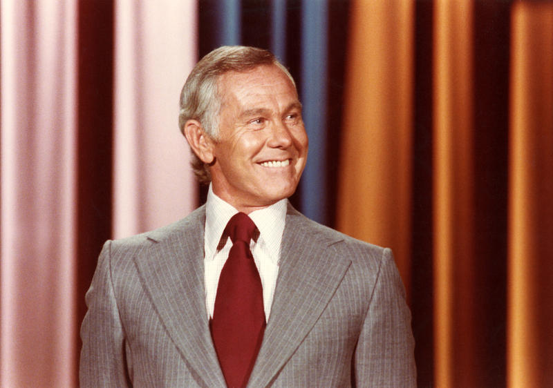 "Johnny Carson on ""The Tonight Show"" set."