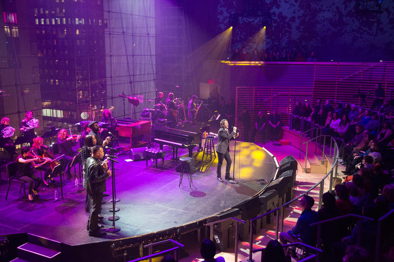 Josh Groban performing at Lincoln Center.