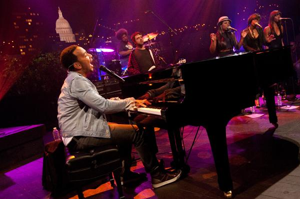 Innovative hip-hop collective, The Roots, backs John Legend, the Grammy-winning soul singer on a set of 70s soul covers and originals.