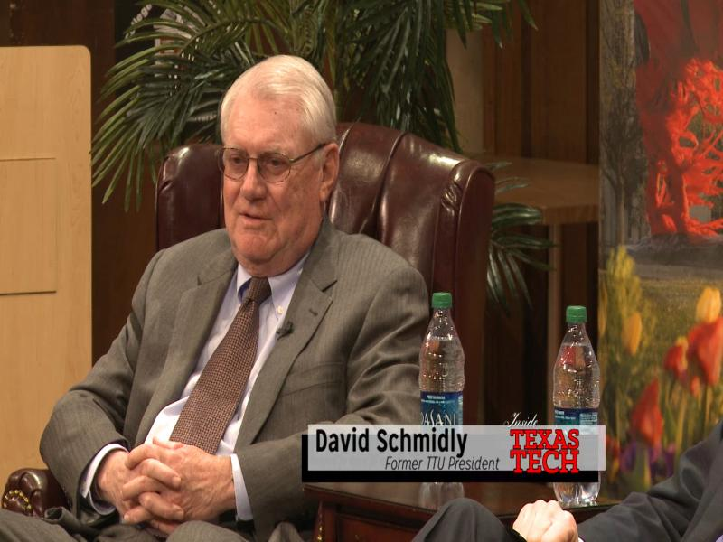 Chancellor Kent Hance invited former Texas Tech President David Schmidly to his leadership class to kick off 2014 and talk about his humble background coming from a small town and achieving great academic success.