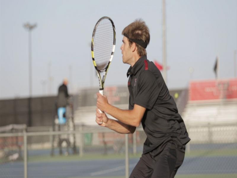 The Texas Tech Men's Tennis team compete against Indiana.