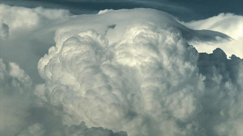 A thunderstorm forming.