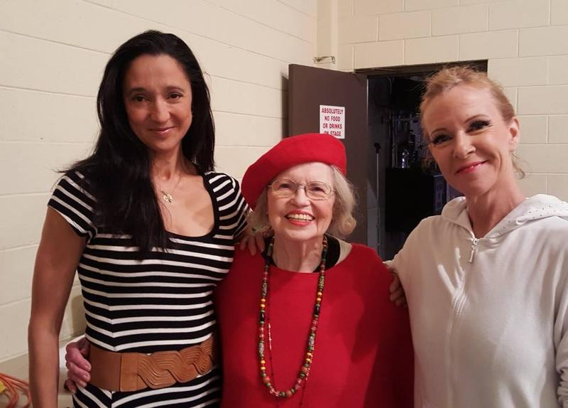 ballet lubbock founder suzanne aker (c) with two of her famous former students