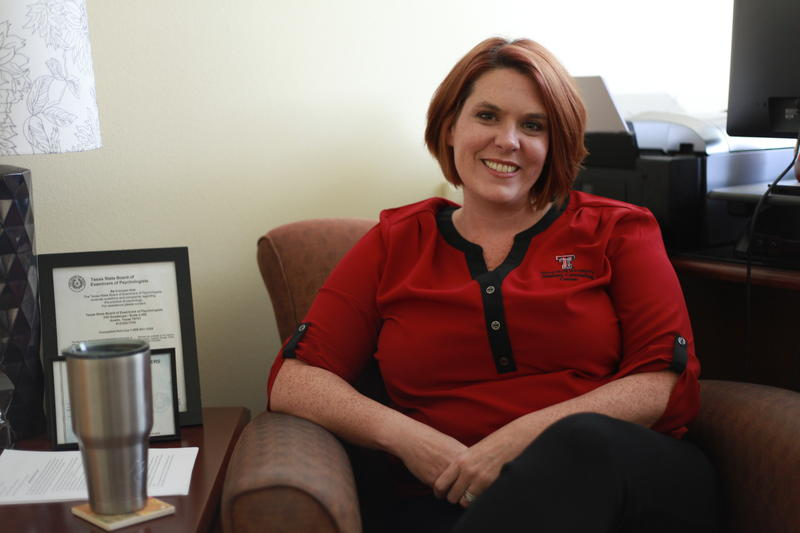 Amanda Wheeler works to train students and staff of Texas Tech with QPR techniques.
