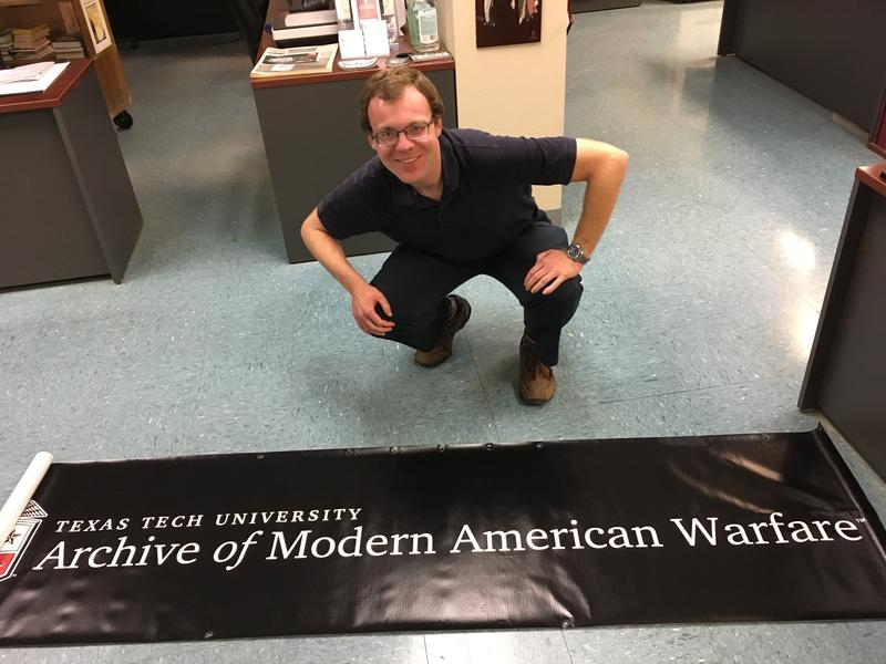 Andrew Hinton, archivist at the Vietnam Center and Archive