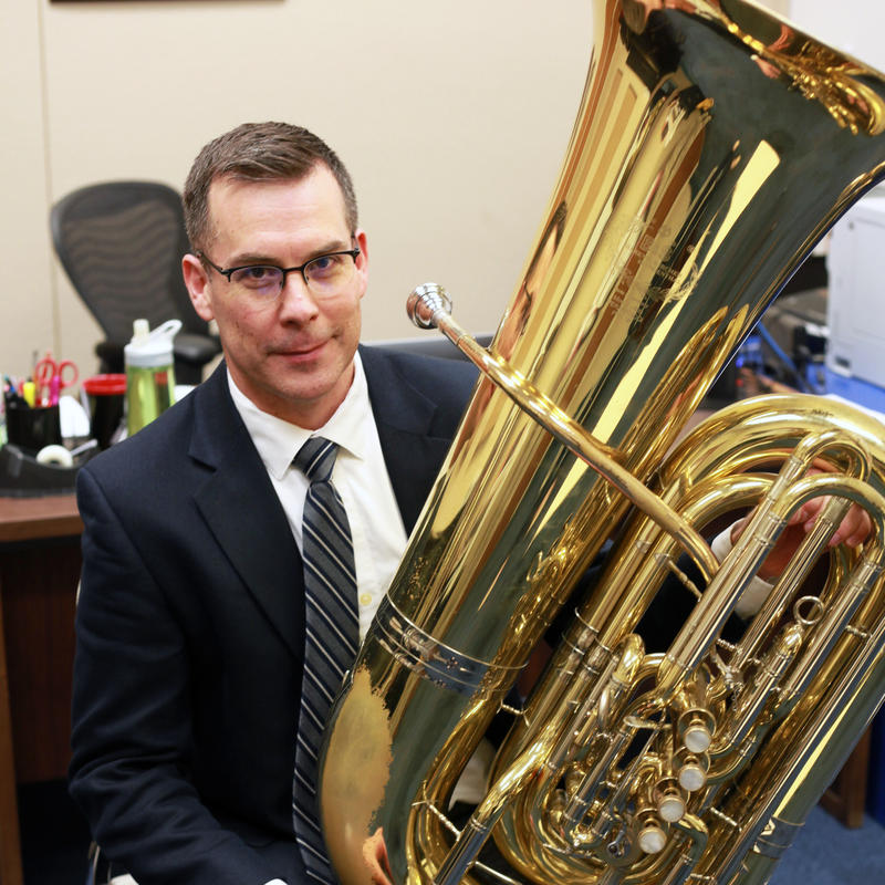 Kevin Wess, Tuba Professor at Texas Tech University School of Music.