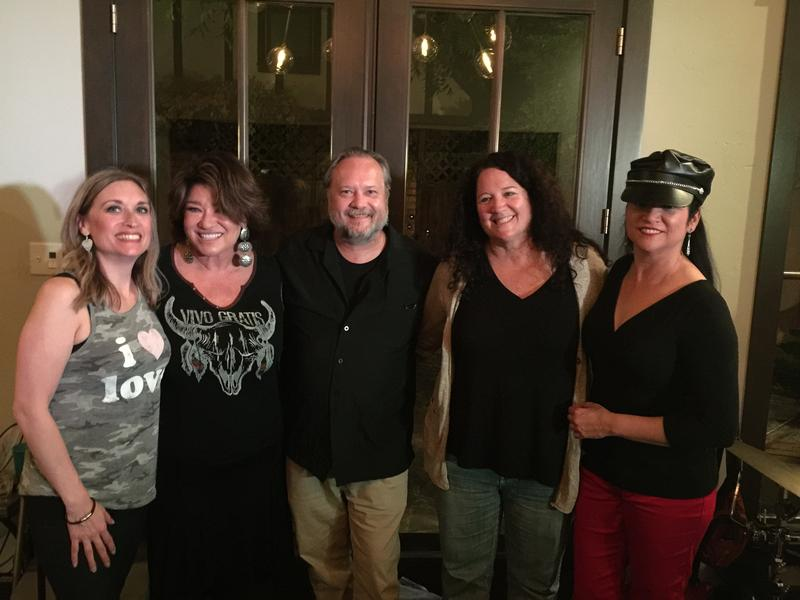 Curtis Peoples with Honeyhouse at Rockin Box 33 house concert where he interviewed the group.