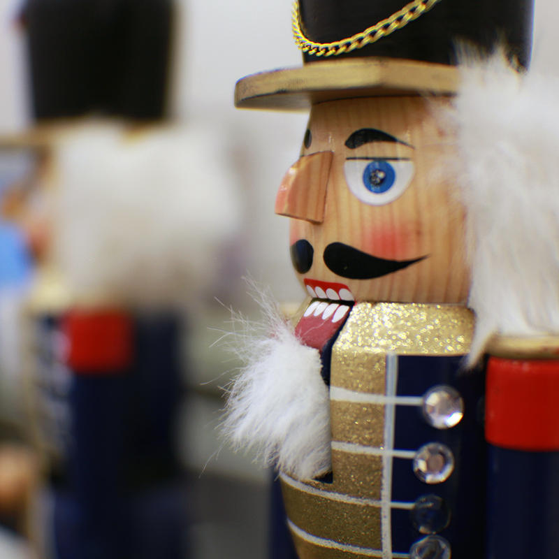 "Props surround the studio as Ballet Lubbock prepares for their production of ""Nutcracker."""