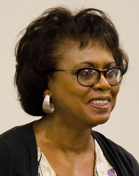 Professor Anita Hill at a panel discussion following a screening of the documentary ANITA, held at Harvard Law School on September 24, 2014.