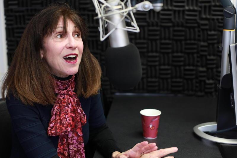 Dorothy Chansky in the KTTZ-FM studio.