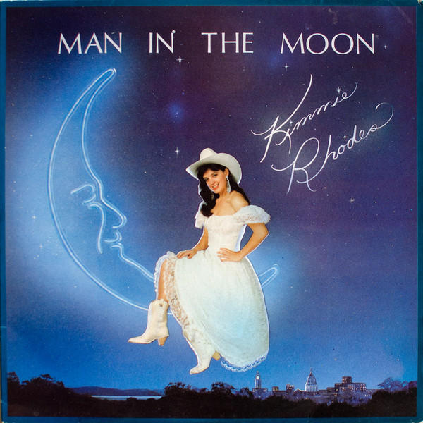 "Kimmie Rhodes', ""Man in the Moon"" album cover."