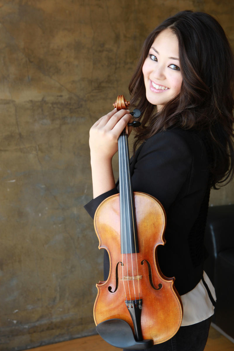 Simone Porter, guest violinist at the Lubbock Symphony Orchestra.