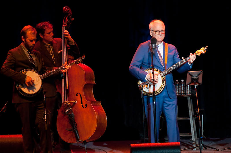 Banjoist and narrator, Steve Martin performs with the Steep Canyon Rangers.