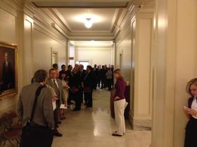 Candidates wait in line to file for 2014 elections