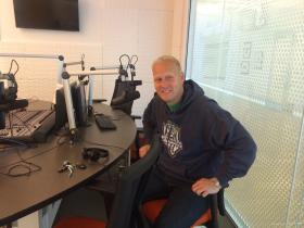 Energy FC Coach Jimmy Nielsen in the KOSU OKC studios.