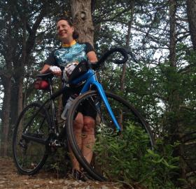 KOSU's OK Freewheel special correspondent: First-time tour participant Vicki Ehlers.