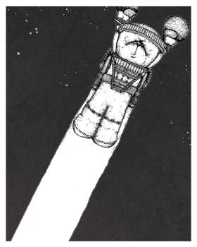 The Title Character of Dorshak Bloch's debut graphic novella, The Story of Ivan A. Alexander.