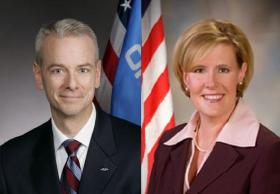 Former State Sen. Steve Russell and former Corporation Commissioner Patrice Douglas