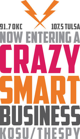 Crazy Smart Business window cling