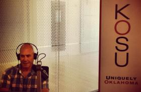 Documentary filmmaker Paul Devlin in the KOSU studios