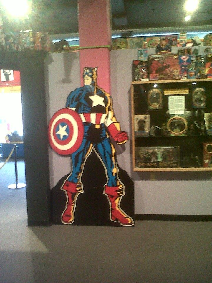 Captain America strikes a pose.