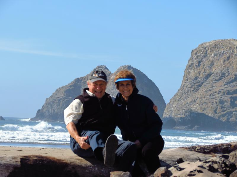 Jerry and Judy Bettis on the Oregon coast