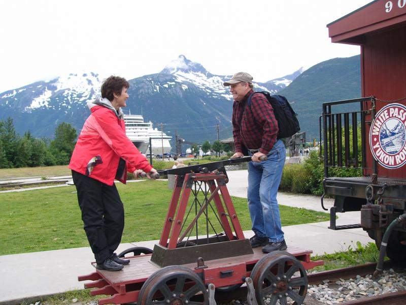Jerry and Judy Bettis in Skagway, Alaska