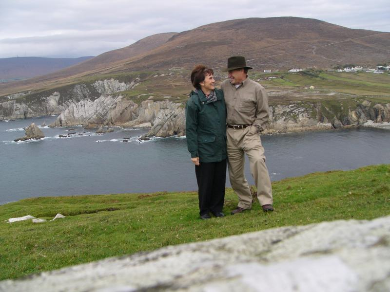 Jerry and Judy Bettis on the West coast of Ireland