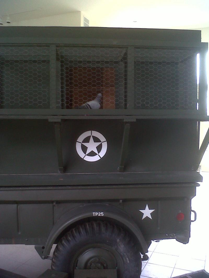 A WWII-era military mobile pigeon loft