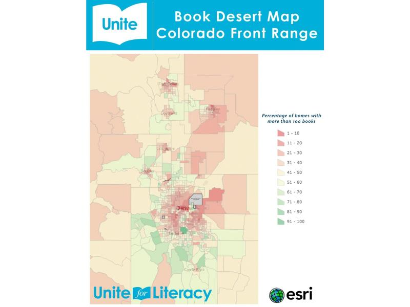 "A map of ""book deserts"" in the Colorado Front Range."