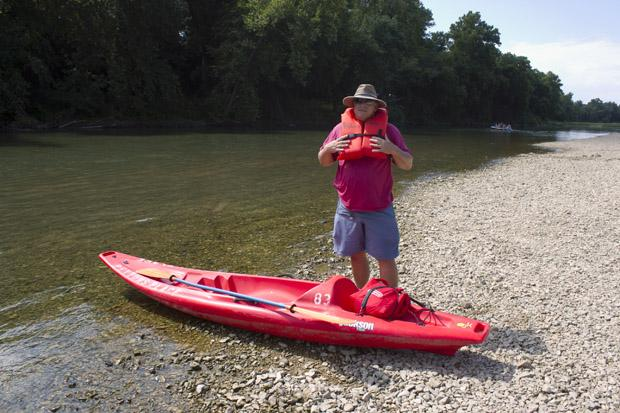 Bob Deitrick of Owasso stands along the banks of the Upper Illinois River at the Round Hollow public access point north of Tahlequah, Okla. The headwaters of this river are in Arkansas.