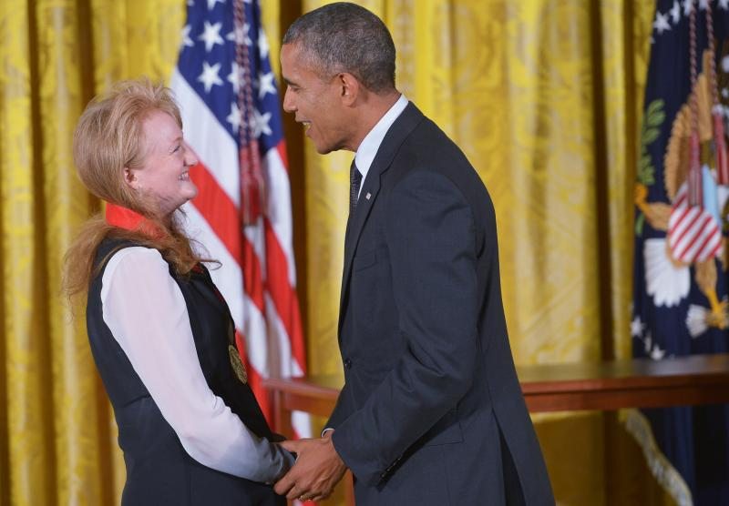 Krista Tippett received the National Humanities Medal from President Barack Obama.