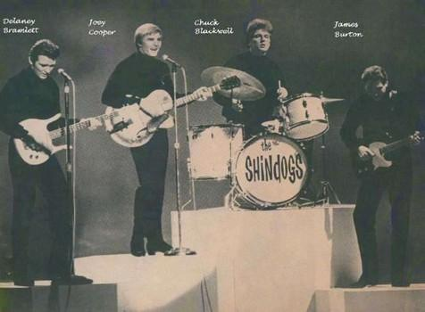 Chuck Blackwell (second from right) on the TV show 'Shindig!'
