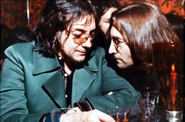Jim Keltner (left) with John Lennon in 1974